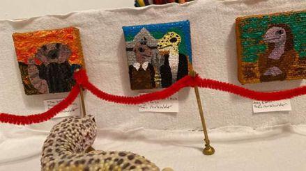 Aburrido por la cuarentena, le crea un museo a su mascota con pinturas históricas