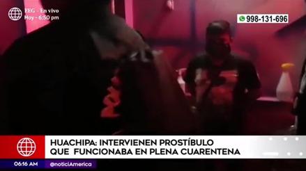 Detienen a 20 personas en un prostíbulo clandestino que funcionaba en pleno toque de queda [VIDEO]
