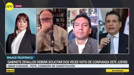 Vicente Zeballos debe solicitar dos cuestiones de confianza, según la Comisión de Constitución [VIDEO]