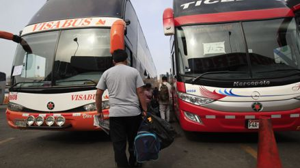 MTC permite servicio extraordinario para transportistas interprovinciales, turísticos y escolares