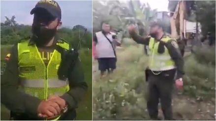 Policía colombiano entregó su arma y se negó a desalojar a campesinos en medio de la cuarentena