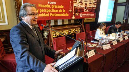 Walter Albán sobre inmunidad parlamentaria: