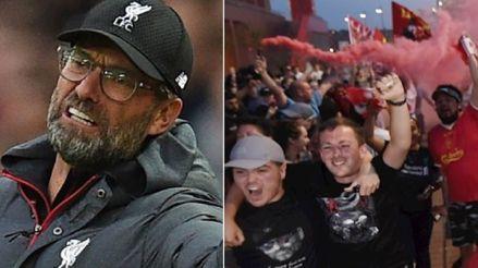 Jürgen Klopp reprendió a los hinchas del Liverpool tras celebraciones caóticas