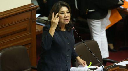 "Martha Chávez se refiere a Martín Vizcarra como ""aprendiz de dictador"" tras anuncio de referéndum"