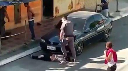 """""""Es inaceptable"""": Indignación por video de agresión de policía a mujer afrobrasileña"""