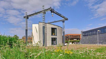 Ingenieros logran imprimir en 3D una casa de varias alturas en Bélgica