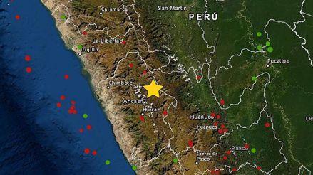 Un sismo de magnitud 3.6 remeció la región Áncash esta madrugada