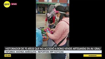 Anciano vende artesanías en la avenida Grau para poder sobrevivir [VIDEO]