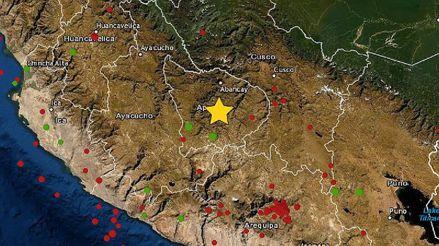 Un sismo de magnitud 4.8 remeció la región Apurímac esta madrugada