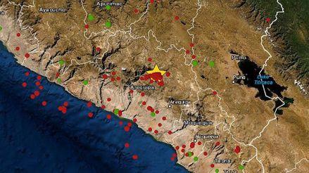 Dos sismos de regular magnitud remecieron la región Arequipa