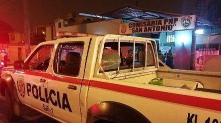 Dos hombres en estado de ebriedad agredieron a policías durante intervención en Miraflores
