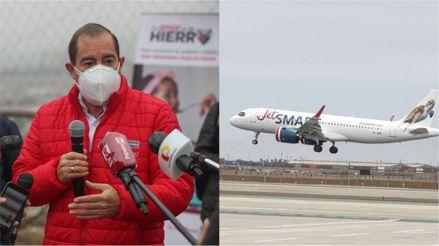 """Walter Martos asegura que """"no hay una fecha oficial"""" para el retorno de vuelos internacionales"""