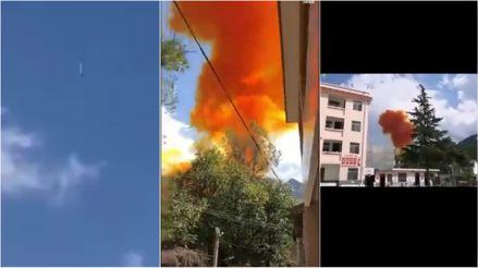 Un cohete cayó cerca de un colegio en China y lo preocupante es que no es un fenómeno aislado