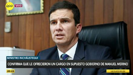 Personas de Acción Popular le habrían ofrecido al ministro Incháustegui formar parte de un gabinete de transición