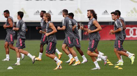 Real Madrid entrenó sin Eden Hazard ni Gareth Bale a seis días de su debut en LaLiga