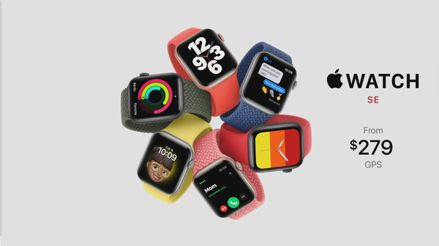 Apple lanza el Watch SE, su reloj inteligente más asequible