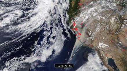 NASA: Satélites monitorean el monóxido de carbono liberado por los incendios de California