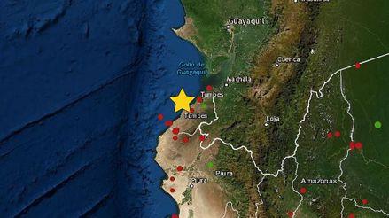 Un sismo de magnitud 4.5 remeció la región Tumbes esta madrugada