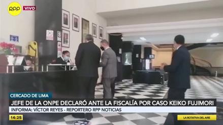 Jefe de la ONPE fue interrogado por casi 4 horas por el fiscal José Domingo Pérez por el caso Keiko Fujimori