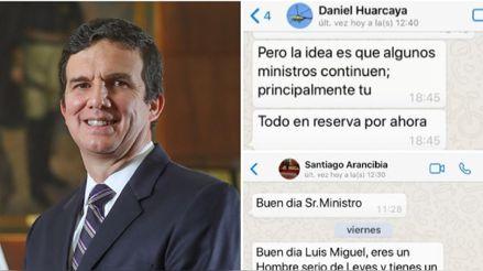 ¿Qué se sabe de Santiago Arancibia y Daniel Huarcaya, las personas que escribieron al WhatsApp del ministro Incháustegui?