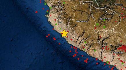 Un sismo de magnitud 4.1 remeció la región Ica este mediodía