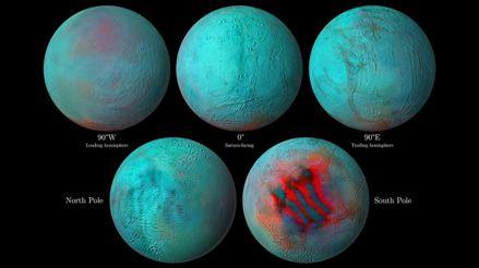 La NASA encuentra indicios de hielo fresco en el hemisferio norte de Encélado, una luna de Saturno