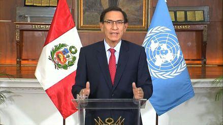 """Vizcarra afirma ante la ONU que la """"separación de poderes"""" salió fortalecida tras disolución del Congreso"""
