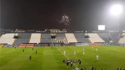 Alianza Lima vs. Racing: íntimos fueron recibidos con fuegos artificiales afuera de Matute