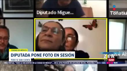 México: Diputada fue descubierta poniendo una foto en Zoom para simular que asistía a sesión virtual