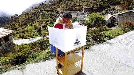 ONPE prevé instalación de mesas de sufragio en aproximadamente 1 000 centros poblados