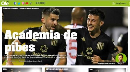 Alianza Lima vs. Racing: así informó la prensa internacional sobre la victoria de la 'Academia'