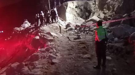 San Juan de Lurigancho: Mujer falleció tras caída de una roca de casi una tonelada