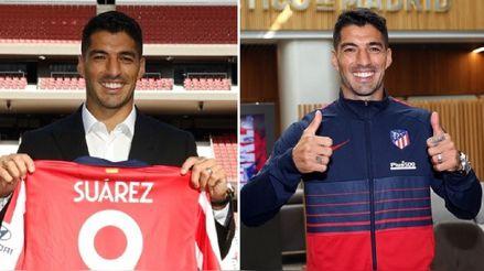 Luis Suárez se puso la '9' del Atlético de Madrid y entrenó por primera vez bajo el mando de Diego Simeone
