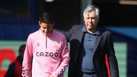 """Carlo Ancelotti le tiene fe: """"Si juego como delantero con James detrás, hasta yo marcaría goles"""""""