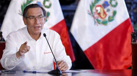 Martín Vizcarra ofrece conferencia de prensa en el Museo Nacional del Perú