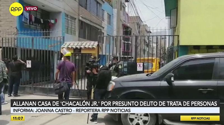 Allanan las casas de Chacalón Jr. y de otros implicados en presunta organización de trata de personas [VIDEO]