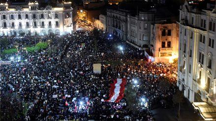 Así se desarrolló la Marcha Nacional contra el Gobierno de Manuel Merino [Audiogalería]