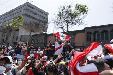 Ciudadanos participan en marcha nacional para exigir justicia por la muerte de Inti Sotelo y Bryan Pintado