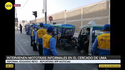 Intervienen mototaxis informales en el Cercado de Lima