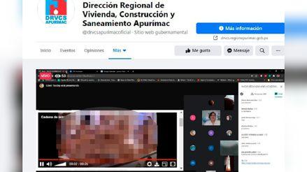 Apurímac: Transmiten video pornográfico en capacitación de la Dirección Regional de Vivienda