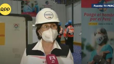Ministra Mazzetti tras la llegada del primer lote de vacunas: