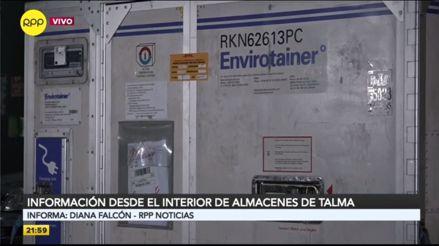 Vacuna en Perú: Así se mantiene la cadena de frío en Talma hasta el traslado de las dosis a Cenares