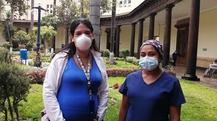 """""""Tener la vacuna es una bendición"""": médicas gestantes del Hospital Dos de Mayo fueron inmunizadas [VIDEO]"""