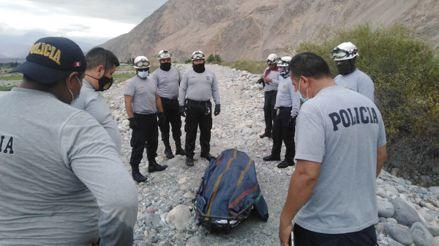 Arequipa: Policía muere al ser arrastrado por río cuando intentaba recuperar el cuerpo de una estudiante