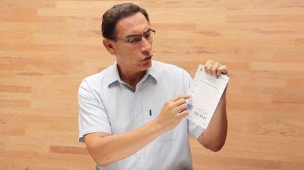 Vizcarra pide
