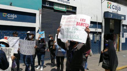 Cuarentena: Comerciantes protestan en Amazonas, Arequipa, Puno y Tacna en contra de restricciones por