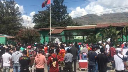 Huánuco: Ciudadanos realizan protesta y piden justicia por joven desaparecido en Colombia