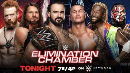 WWE Elimination Chamber 2021 EN VIVO: Vive el minuto a minuto de la cámara de eliminación   Roman Reigns   Drew McIntyre   Randy Orton   Daniel Bryan   Sasha Banks