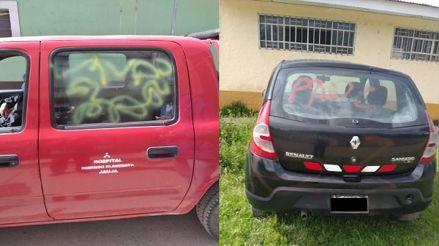 Paro de transportistas: Echan pintura a médico y pintarrajean vehículos que trasladaban a personal de salud en Junín