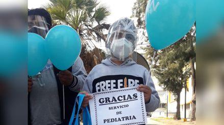 Arequipa: Niño de 11 años vence a la COVID-19 tras permanecer 41 días hospitalizado